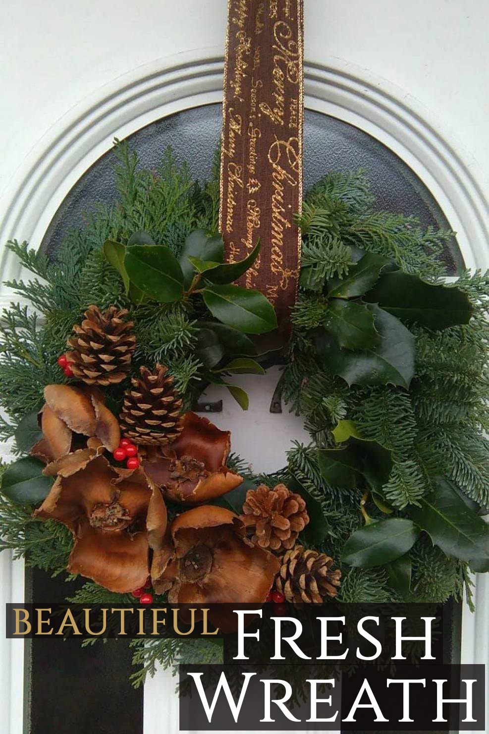 Traditional Fresh Christmas Wreaths (Two Styles) - #1 ...